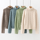 P19B008EL OEM 2021SS ladies wool cashmere sweater knitted turtleneck jumpers sweater for women