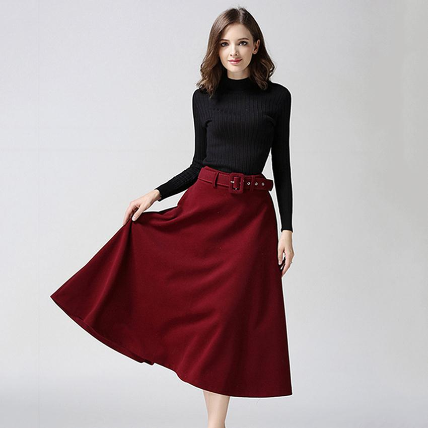 Plus Size Wool Skirt 99
