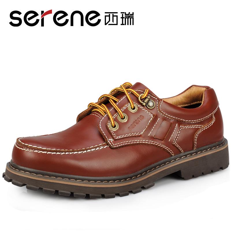 Первый слой из коровьей свободного покроя туфли мужской свободного покроя мужчины болван туфли из натуральной кожи 6163