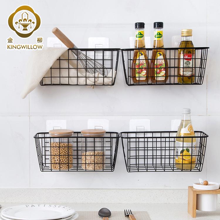 Rectangle Black Metal Wire Storage Basket Hanging Basket For Kitchen Buy Kitchen Basket Metal Basket Hanging Basket Product On Alibaba Com