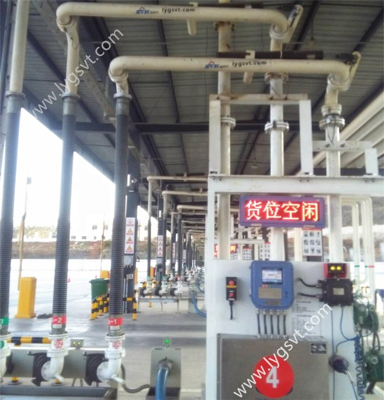 skid mounted automatic quantitative loading arm with loading control system