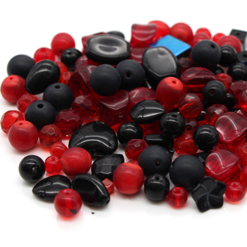 Wholesale red and black glass beads for jewelry making