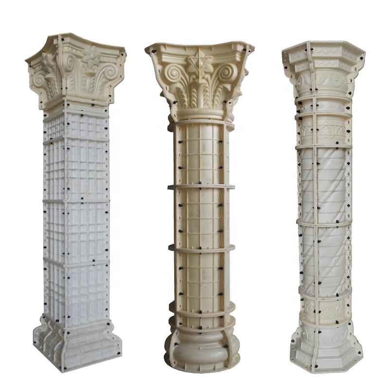 Римская пластиковая пресс-форма для литья под давлением, форма для бетонной колонны