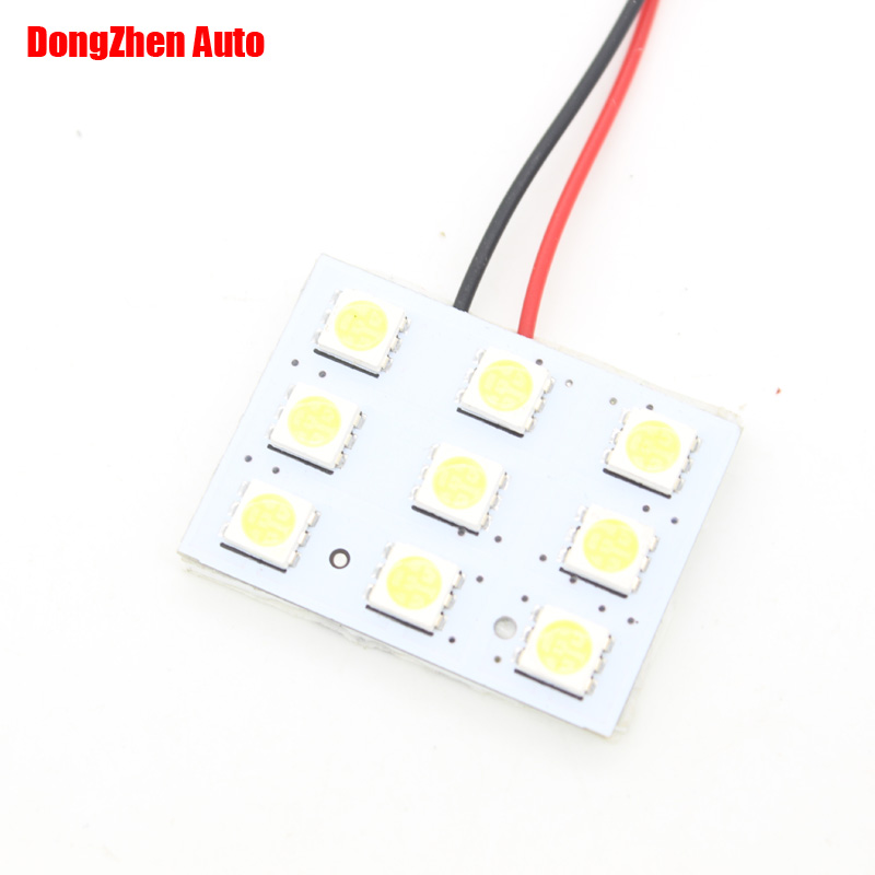 ₪9smd 5050 Panel Led Car ୧ʕ ʔ୨ T10 T10 Ba9s Festoon Dome