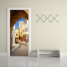 2019 Популярные 3D наклейки на дверь Старый город виниловая наклейка на стену дверь настенное искусство двери спальни водонепроницаемый ПВХ с...(Китай)