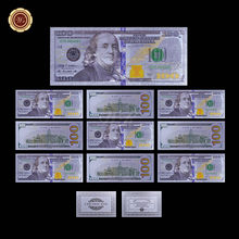 Позолоченные банкноты, 24 к, золото, фольга, поддельные деньги, 7 шт./лот, для украшения дома(Китай)