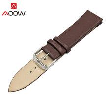 Универсальный кожаный ремешок для часов, 12, 14, 16, 18, 20, 22 мм, красный, коричневый, для мужчин и женщин, мягкий сменный Браслет, ремешок, аксессуа...(Китай)