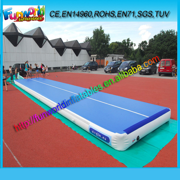 2014 cheap inflatable air track gym inflatable tumble track for sale promotional factory. Black Bedroom Furniture Sets. Home Design Ideas