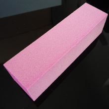 free shipping Pink tofu scrub polishing block tofu finger file sponge file french nail art