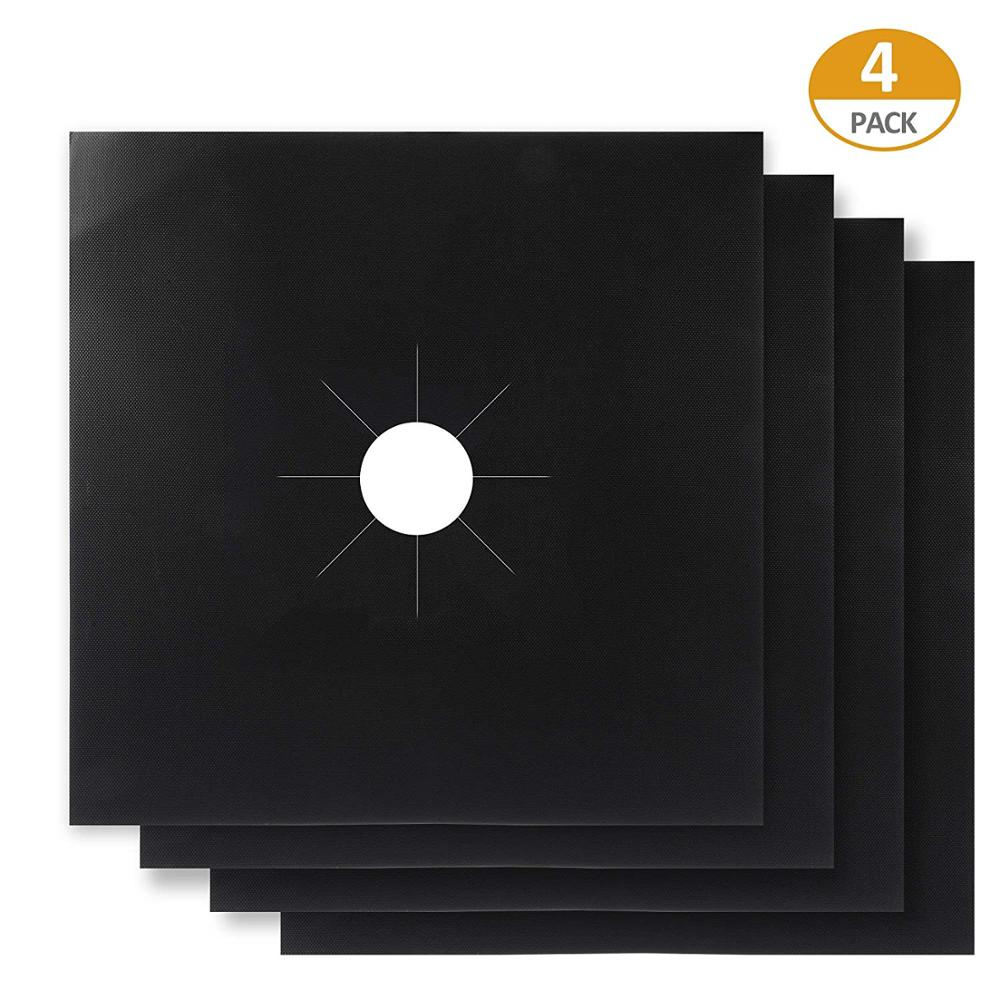 LFGB Approved 0.2 mm Double Thick Gas Range Protectors Non-Stick Gas Stove Burner Cover