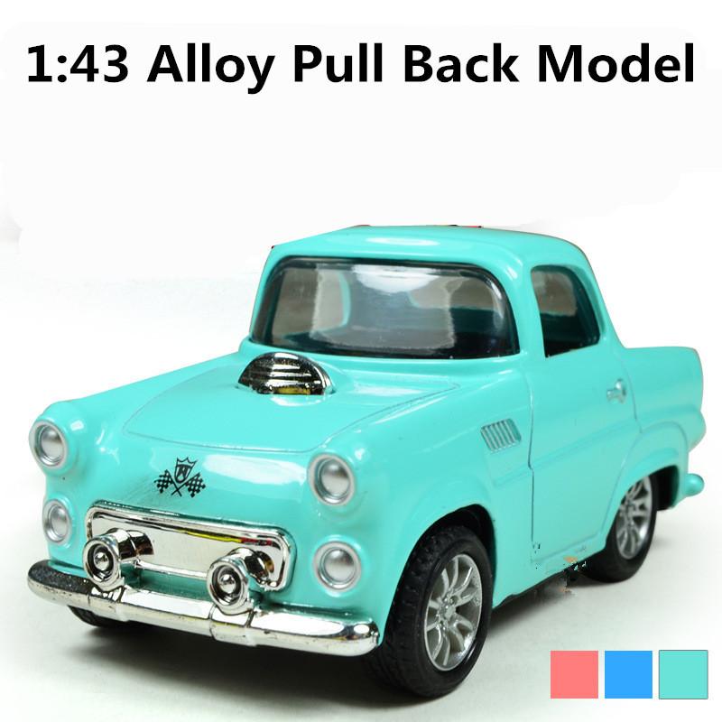 Cute Mini Classic Cars,1:43 Scale Alloy Pull Back Model