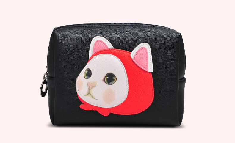 FuYuan pink makeup train case pu leather cosmetic bag cosmetic travel toiletry bag for cosmetics