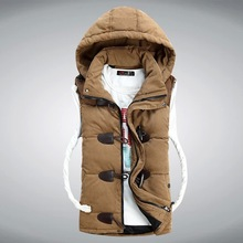2014 Men Winter Down Vest  Brand New Fashion Men's Sleeveless Jacket Casual Coat Cotton Brand Winter Outdoors Waistcoat