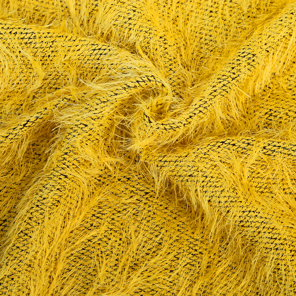 Personalized high fancy soft handfeeling fashion mohair fabric for sweater