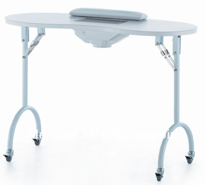 white portable manicure table folding nail table manicure with ventilation