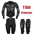 Motorcycle Body Protection Racing Full Body Armor Jacket Protective Gears Short Pants Motorbike Knee Pad Protector