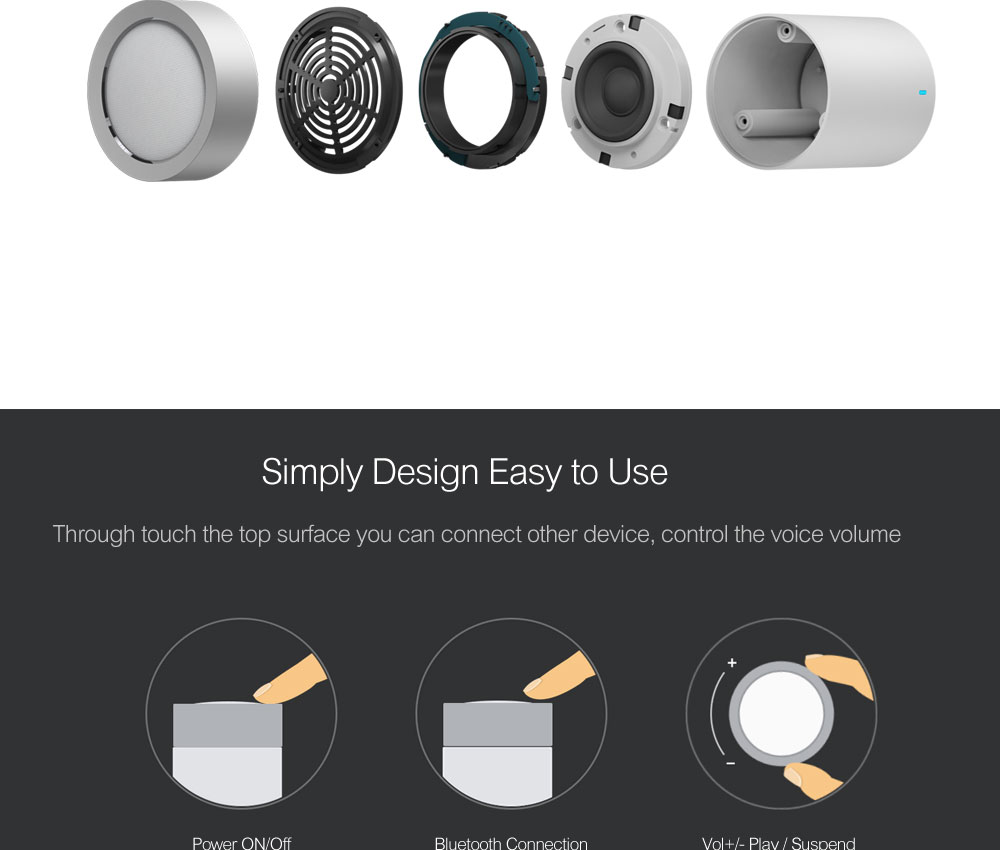 Xiaomi Bluetooth Speaker Version 2 Cannon TYMPHANY Wireless Speakers  1200mah Battery Music MP3 Player Bluetooth 4 1