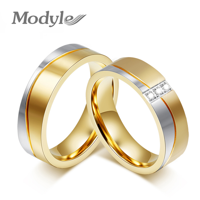 2016 New Fashion Gold Color Wedding Rings For Men And ...
