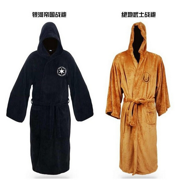 Hot Sale Star Wars Darth Vader Coral Fleece Terry Jedi Adult Bathrobe Robes Halloween Cosplay Costume