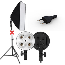 Photo Video Studio 4 lights softbox * 1 50 x 70CM 4in1 4x head Reflective Materials E27 Ceramic Interface Photo studio