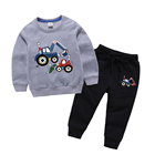Mudkingdom wholesale kids clothing boys autumn pants set cotton hot sell amazon clothes for boy