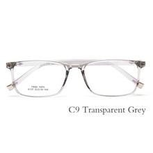 Оптические TR90 очки рамки мужские ретро ясные близорукость очки Квадратные дизайнерские очки оправы для мужчин #6137(Китай)