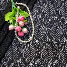 Новая осенняя и зимняя Плотная хлопковая кружевная ткань с вышивкой, двухцветная газовая ткань с узором в виде листиков, ткань для свадебно...(Китай)