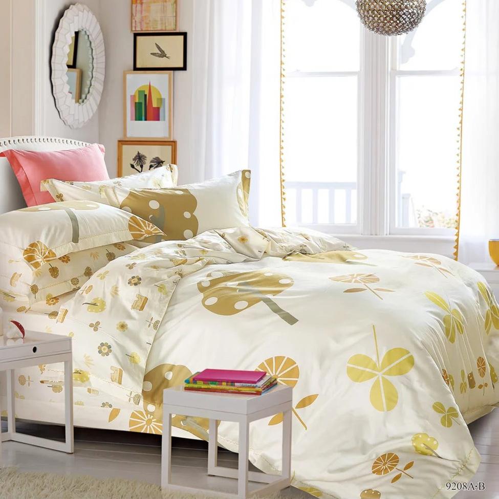 KOSMOS 100% хлопок уникальный красивый комплект постельного белья с принтом/одеяло/простыня/постельное белье/Подушка/пододеяльник