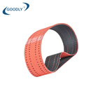 Belt Rubber Belt Seamless And Thin Red Rubber Coating Flat Belt Make Holes For Printing Industry Thickness 3mm Industrial Driving Belt