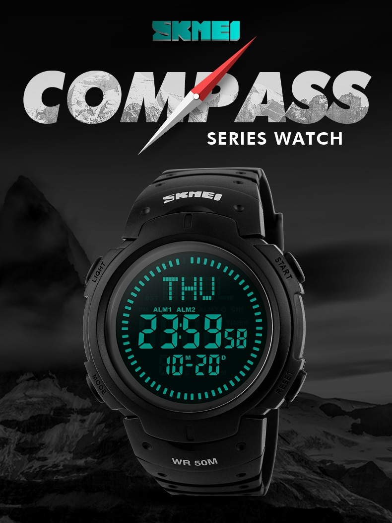 Digital Watches Men's Watches Honest Sports Watches Men Pedometer Calories Digital Watch Women Altimeter Barometer Compass Thermometer Skmei Weather Reloj Hombre