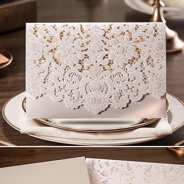 100Pcs/Pack Design Rustic Romantic Relief White Elegant