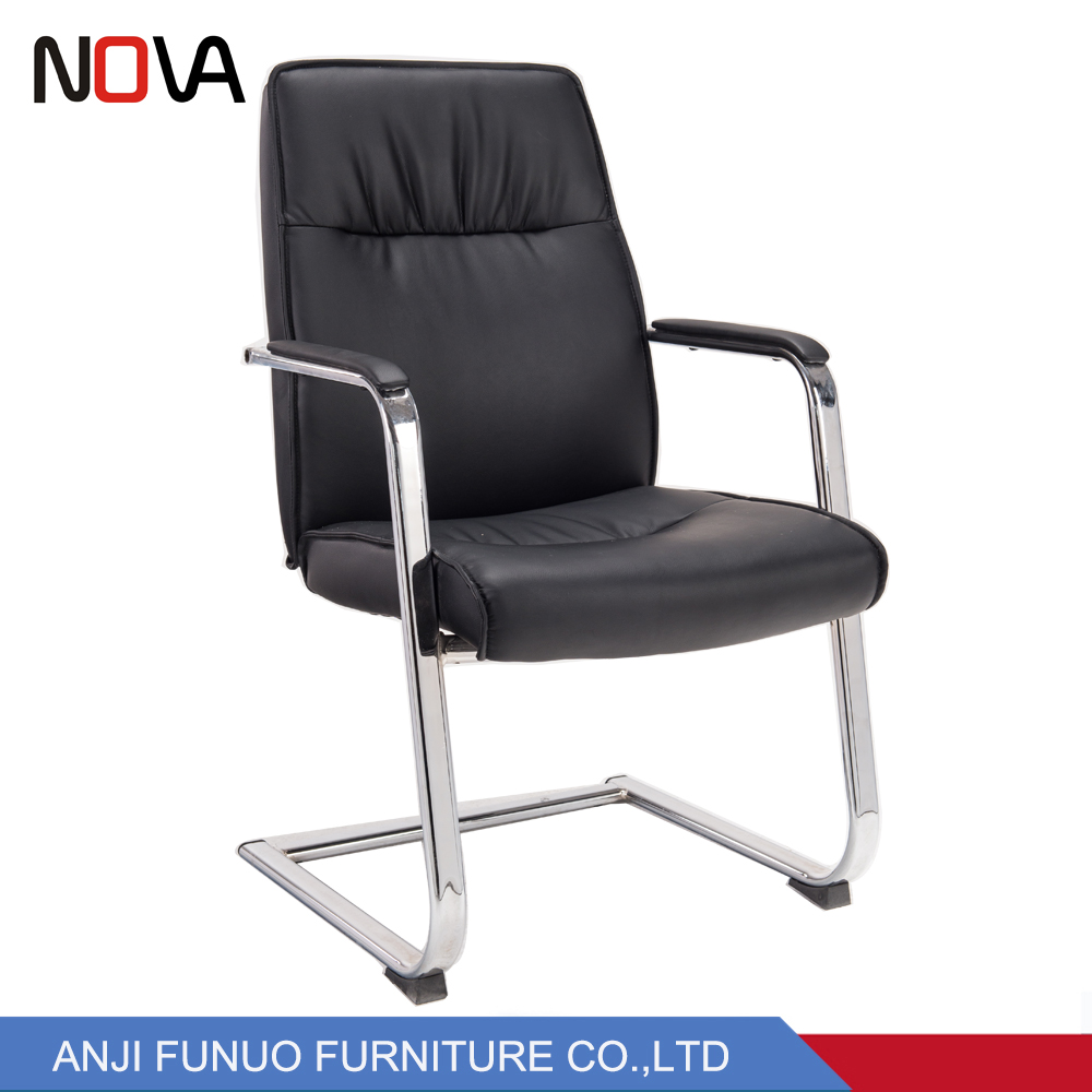 Stainless Steel Frame Black Leather Executive Office Chair No Wheels Buy Simple Design Standard Size Modern Executive Office Chair Black High Back Executive Leather Office Chair Big Leather Executive Massage Luxury Office Chair
