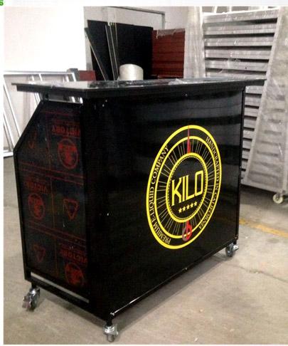 Прямая светодиодная барная стойка с логотипом, дешевые наборы для улицы, роскошный кожаный комплект для путешествий