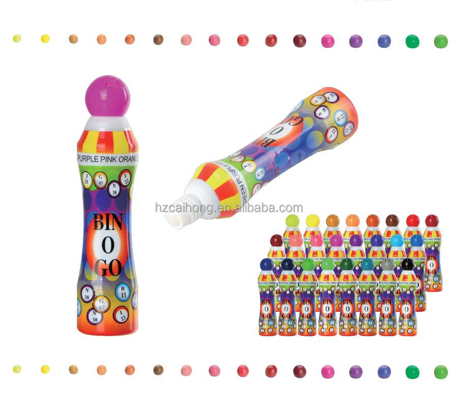 GOOD QUALITY Wholesale BINGO DAUBERS Dabbers 10mm Tip Dot Marker Pen CH-2809 D26*l137mm EN71 &ASTM 10/13 Mm Rainbow CN;ZHE 40ml