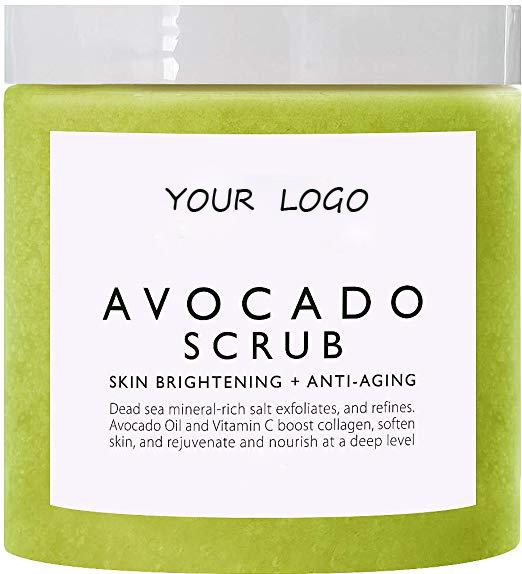 Natural cosmetics organic avocado body scrub body whitening exfoliator scrub
