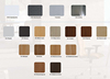 Melamine color and metal color