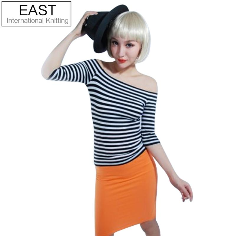 Discount Free Shipping Cwds078 One Shoulder With: Aliexpress.com : Buy EAST KNITTING N7 2015 NEW Fashion One