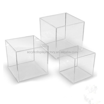 Popular wholesale custom made acrylic riser display box with best quality