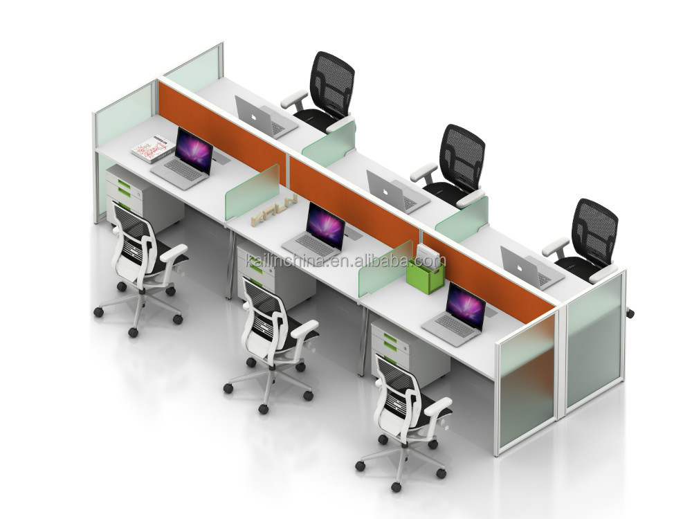 Newest model modern open commercial office cubicle modular protect privacy room Greenguard Certificate call center workstation