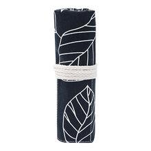 Цветной чехол-карандаш из хлопка с креативными листьями, большой вместимости 36 отверстий, черно-белая ручка для рисования, роликовый чехол(Китай)