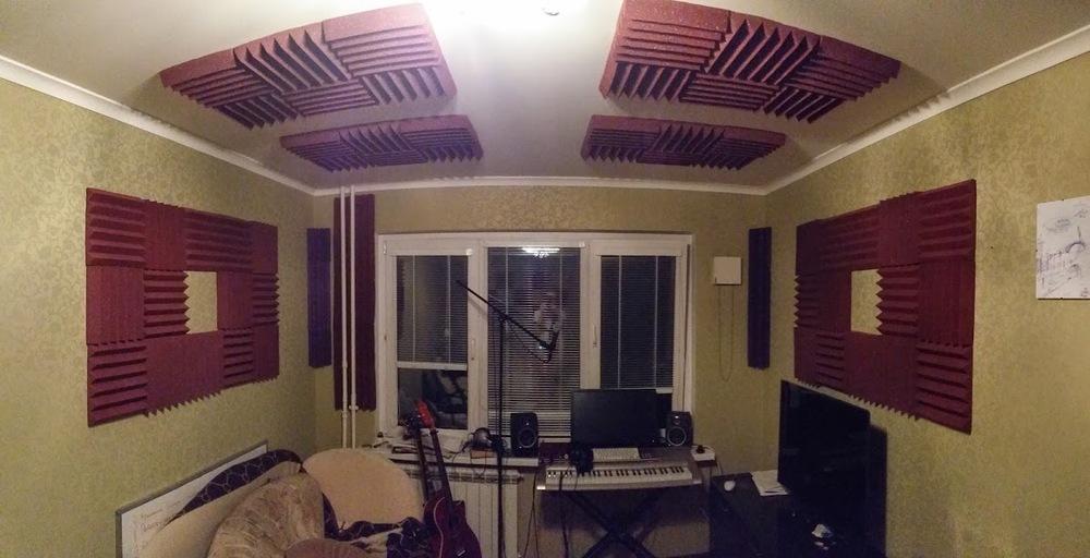pyramide de mousse acoustique studio de musique panneaux. Black Bedroom Furniture Sets. Home Design Ideas