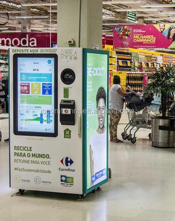 Торговый автомат RVM -Reverse для пластиковых бутылок и алюминиевых контейнеров