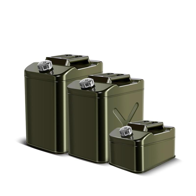 Портативная мини-канистра из нержавеющей стали для бензинового масла американского типа, 10 л, 20 л, 30 л