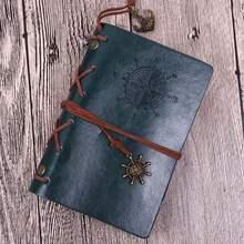 Классические винтажные кожаные записные книжки и журналы из крафт-бумаги, медное покрытие, морской якорь, дорожная записная книжка, пиратск...(Китай)