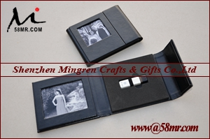 Wedding Leather USB Stick Packaging Album Folio