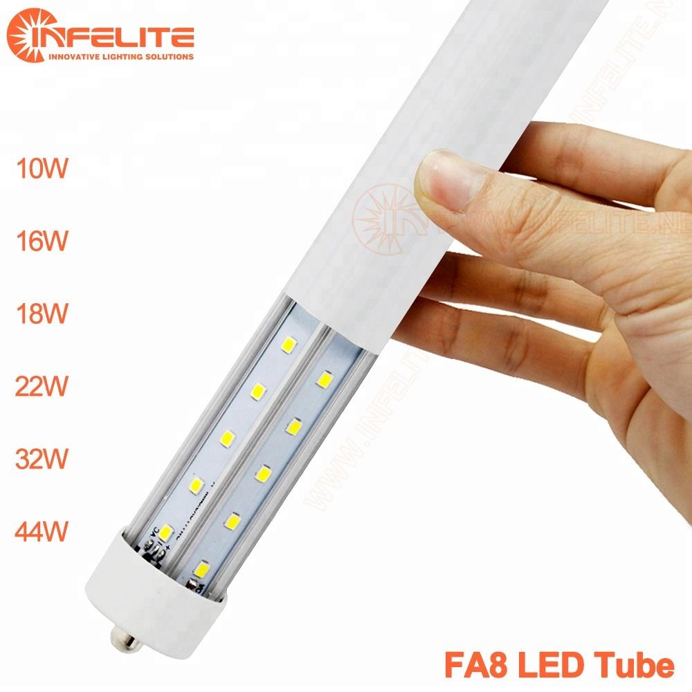 IN-FA8 T8 одноконтактный FA8 гнездо 2FT 10 Вт 3FT 16 Вт 4FT 22W 5FT 24 Вт 8FT 36 Вт Светодиодный люминесцентный торпедный прицел лампы, потолочное освещение, Подвесная лампа