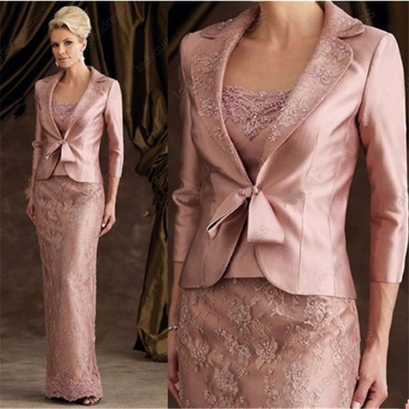 Mother Of The Bride Dress With Jacket Floor Length Wedding