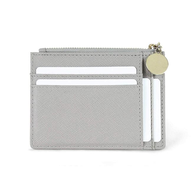 Кошелек для мелочи, маленький кошелек из искусственной кожи на молнии, тонкий кошелек для монет и карт на заказ