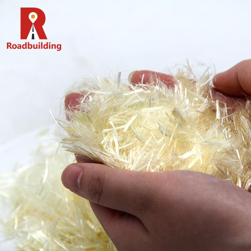 Китайская Фабрика оптовая продажа полипропиленового штапельного волокна дешевой цены для дороги