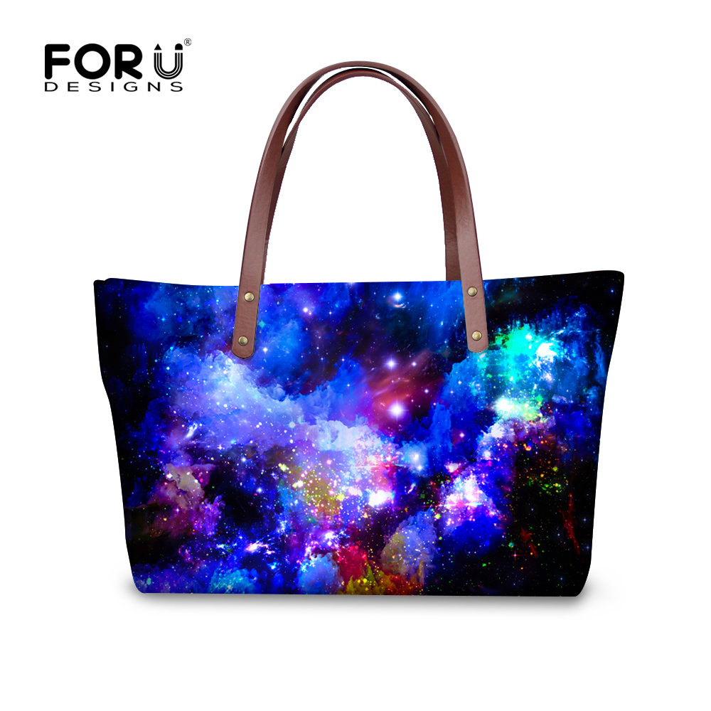 custom hand shoulder tote bag universe space galaxy prints handbags women ladies bags large. Black Bedroom Furniture Sets. Home Design Ideas